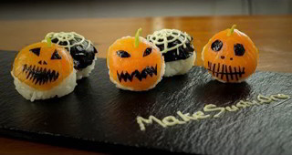 Halloween Sushi Balls - How to Make Halloween Food the Japanese Way