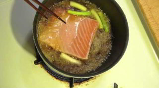 Salmon Nitsuke fish recipe - Japanese cooking 鮭の煮付けの作り方レシピ