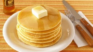 How to Make Pancakes From Scratch (Homemade Pancake Recipe) パンケーキの作り方 (レシピ)