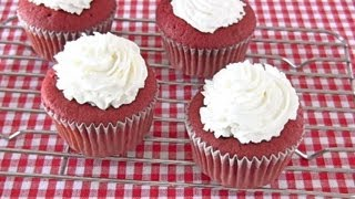 How to Make Red Velvet Cupcakes (Recipe) レッド ベルベット カップケーキ (レシピ)
