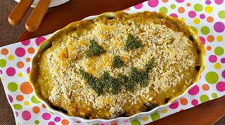 How to Make Spinach and Salmon WaFu Gratin for Halloween (Low-Sodium Recipe) ほうれん草と鮭の和風グラタン (レシピ)