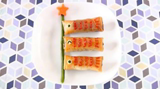 How to Make Koinobori Spring Rolls (Egg Rolls) Harumaki Recipe こいのぼり 春巻き レシピ