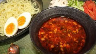 How to make spicy dipping noodle  ピリ辛なつけ麺