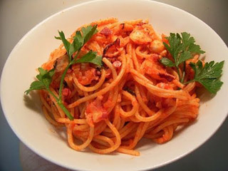 How to make Octopus pasta with tomato sauce タコのパスタ