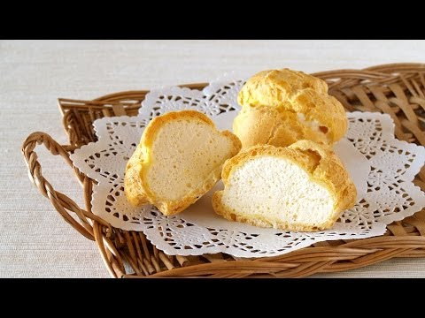 How To Make Ice Cream Puffs (Choux Pastry filled with Parfait Glacé) Recipe シューアイスの作り方 レシピ