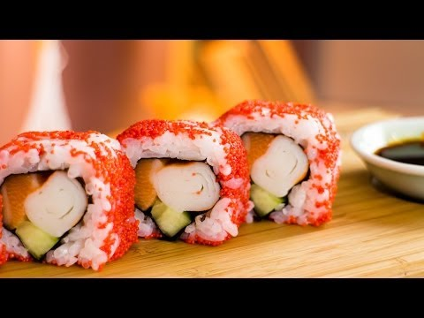 Raspberry Masago Sushi Roll - Recipe